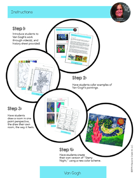 Van Gogh Art History Workbook and Activities - Starry Night