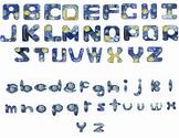 Alphabet Clip Art, Van Gogh's Starry Night