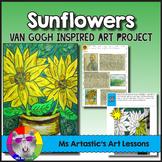 Van Gogh's Sunflowers Art Lesson