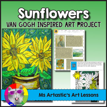 Van Gogh S Sunflowers Worksheets Teaching Resources Tpt