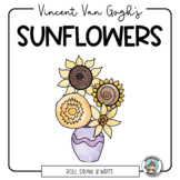 Van Gogh's Sunflowers Roll and Draw