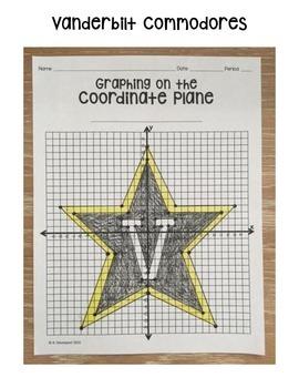 Vanderbilt Commodores (Coordinate Graphing Activity)