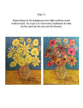 Vangogh Style Flowers Lesson