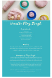 Vanilla Play Dough Recipe with benefits for children