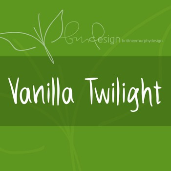 Vanilla Twilight Font for Commercial Use