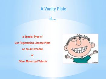 Vanity License Plates