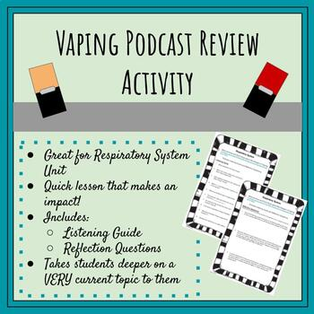 Vaping Awareness Podcast Review Activity