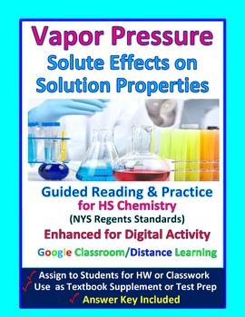 Vapor Pressure, Boiling Point, Effect of Solute -  Guided Study Notes for Chem