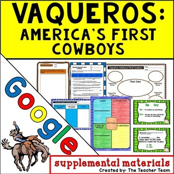 Vaqueros: America's First Cowboys Journeys 5th Grade Google Drive Resource