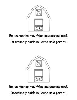 Vaquita: Librito para leer y colorear in Spanish