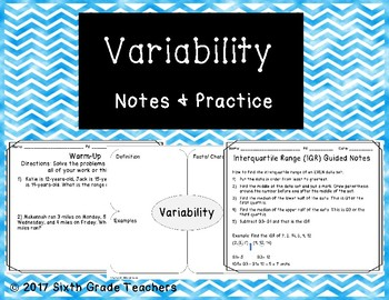 Variability Notes and Practice Resources