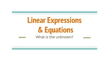 Variable Expresions & Equations
