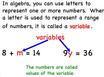 Variable Expressions Algebra