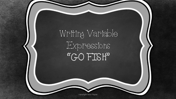 """Variable Expressions """"GO FISH"""" game"""