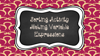 Variable Expressions Sorting