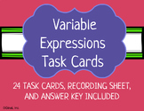 Variable Expressions Task Cards