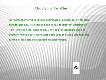 Variable Practice Paragraphs and Labeling the X and Y Axis