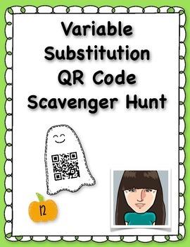 Variable Substitution QR Code Scavenger Hunt