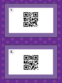 Variable Vocabulary Review and QR Code Fun