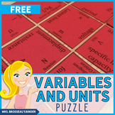 Physics Variables and SI Units Matching - Physics Review Puzzle