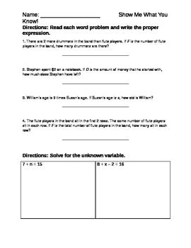 Variables Assessment