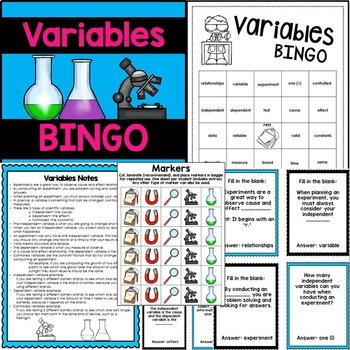 Variables Activities - Independent and Dependent Variables