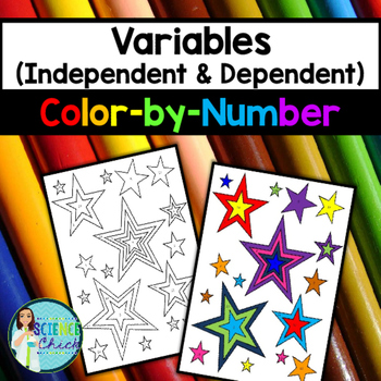 Variables Color-By-Number (Independent & Dependent)