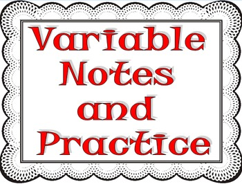 Variables, Constants, and Control Notes and Practice