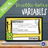 Variables Digital Scribble Notes Freebie | Distance Learning