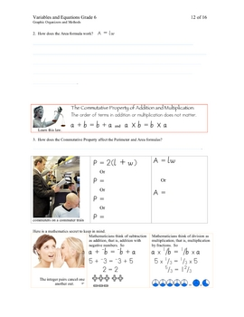 Variables & Equations Grade 6