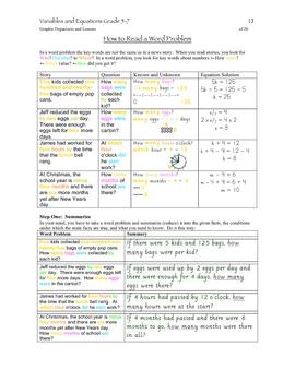 Variables & Equations Grade 7