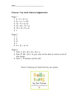 Variables, Equations, Two Step Problems (3.OA.8)