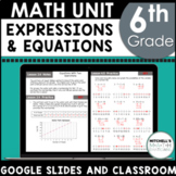 6th Grade Math Variables Expressions and Equations Curriculum Unit 6 GOOGLE