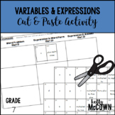 Variables & Expressions Cut & Paste Activity