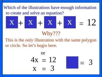 Variables, Expressions, Equations and Handouts.