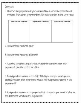 Variables Foldable and Lab for Interactive Notebooks