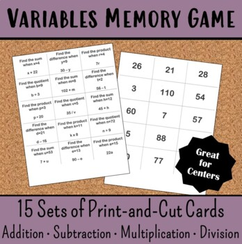Variables Memory Game
