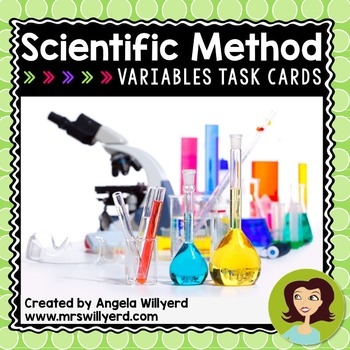 Variables Task Cards / Scoot Game with and without QR Codes {Scientific Method}