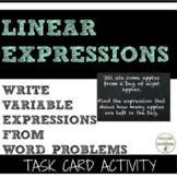 Write variable expressions activity word problems