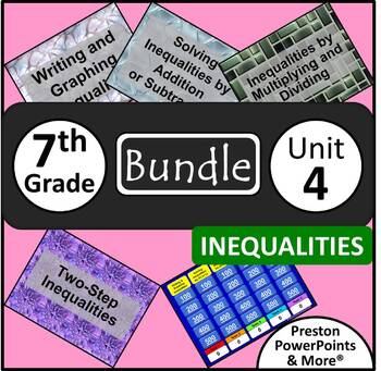 (7th) Inequalities {Bundle} in a PowerPoint Presentation