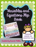 Variables and Equations Interactive Flip Book