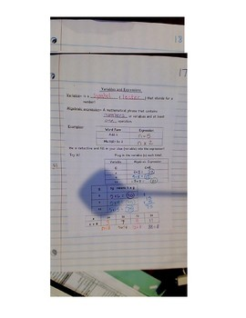 Variables and Expression notes