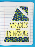 Doodle - Variables and Expressions Interactive Notebook Foldable