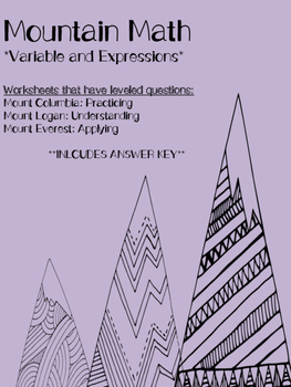 Variables and Expressions: Mountain Math