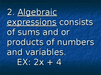 Variables and Expressions Powerpoint Lesson