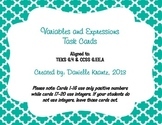 Variables and Expressions Task Cards