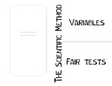 Variables and Fair Tests foldable