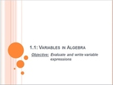 Variables in Algebra