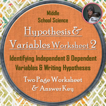 Dependent And Independent Variables Science Teaching Resources ...