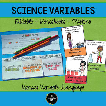 Variables in Science Foldable